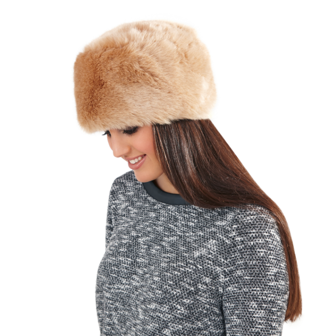 Ladies winter luxury faux fur cossack hat 1b8f9d4a759