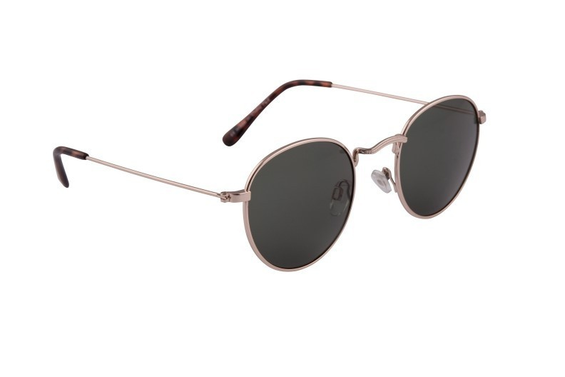 e02a0b5b0d Dark Rounded Lens Sunglasses With Gold Frame